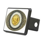 Indian gold oval 3 Rectangular Hitch Cover