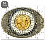 Indian gold oval 3 Puzzle
