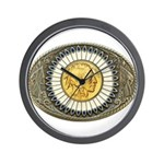 Indian gold oval 3 Wall Clock