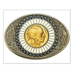 Indian gold oval 3 Small Poster