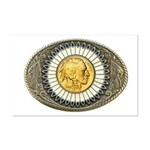 Indian gold oval 3 Mini Poster Print