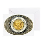 Indian gold oval 3 Greeting Cards (Pk of 10)
