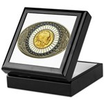 Indian gold oval 3 Keepsake Box