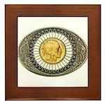 Indian gold oval 3 Framed Tile