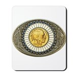 Indian gold oval 3 Mousepad