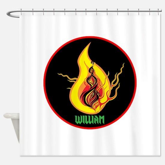 William Flames Shower Curtain