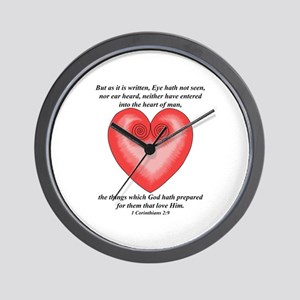For them that Love Him / Heart Wall Clock
