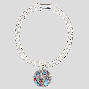 African Valentine Charm Bracelet, One Charm