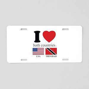 USA-TRINIDAD Aluminum License Plate