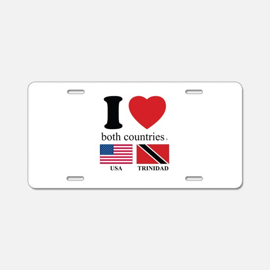 USA-TRINIDAD Aluminum License Plate