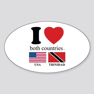 USA-TRINIDAD Sticker (Oval)