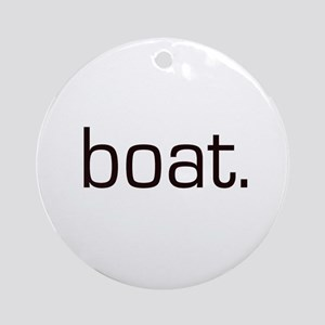 Boat Ornament (Round)