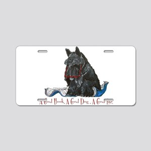 Scottish Terrier Book Aluminum License Plate