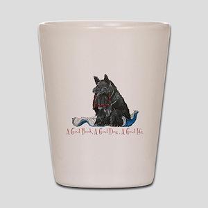 Scottish Terrier Book Shot Glass