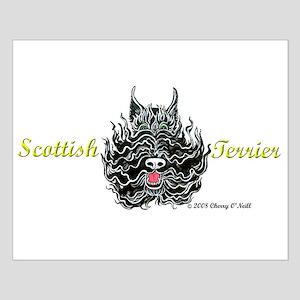 Scottish Terrier Tattoo Art Small Poster