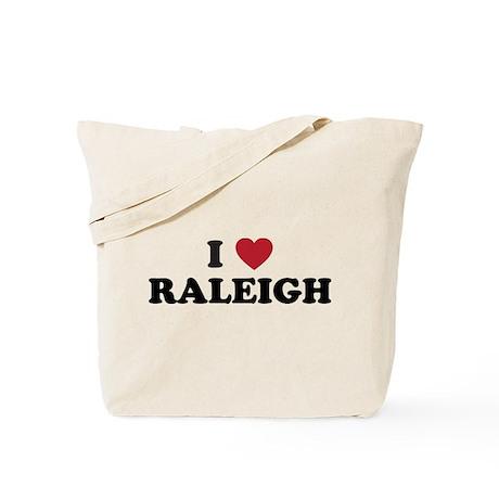 I Love Raleigh North Carolina Tote Bag