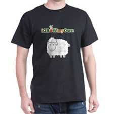 iGrowMyOwn: Sheep Dark T-Shirt
