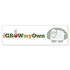 iGrowMyOwn: Sheep Sticker (Bumper)
