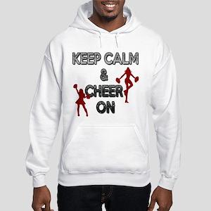 """""""KEEP CALM, CHEER ON"""" Hooded Sweatshirt"""