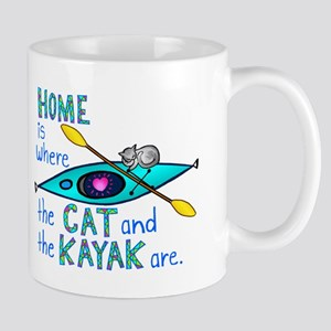 Cat and Kayak Mug