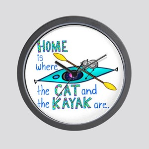 Cat and Kayak Wall Clock