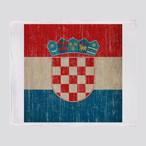 Vintage Croatia Throw Blanket