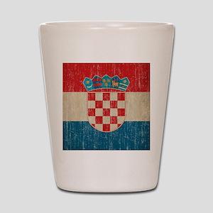 Vintage Croatia Shot Glass