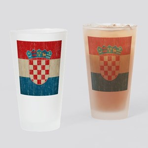 Vintage Croatia Drinking Glass