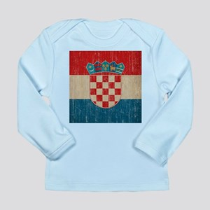 Vintage Croatia Long Sleeve Infant T-Shirt