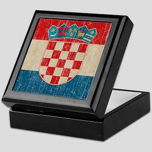 Vintage Croatia Keepsake Box
