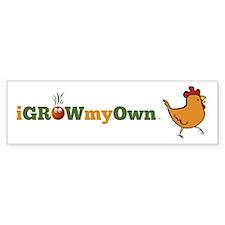 iGrowMyOwn: Chicken: Style 01 Sticker (Bumper)
