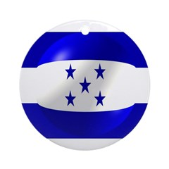 Honduras Flag Ornament (Round)