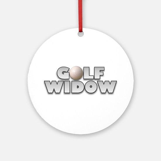 Golf Widow Ornament (Round)