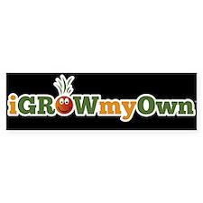 iGrowMyOwn: Logo Only - Dark Bumper Sticker