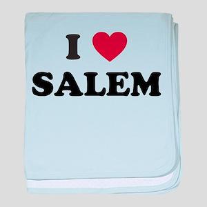 I Love Salem Oregon baby blanket