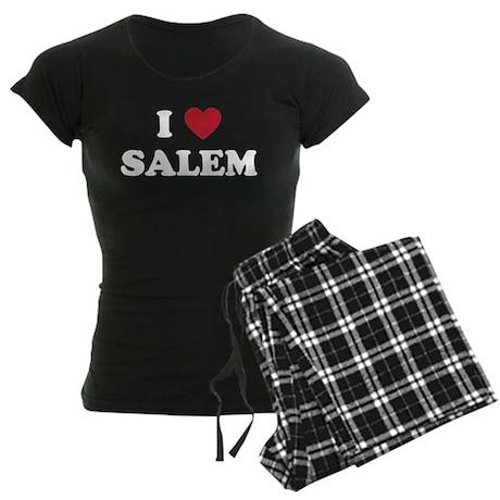 I Love Salem Oregon Women's Dark Pajamas