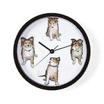 Puppy Dog Fiona Sheltie Wall Clock