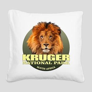 Kruger National Park Square Canvas Pillow