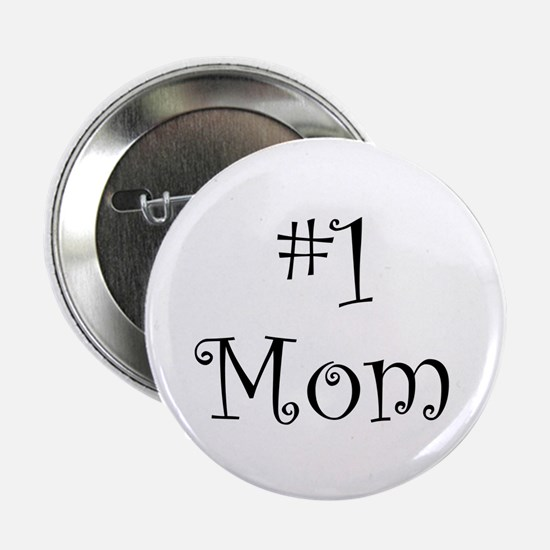 Number One Mom Button