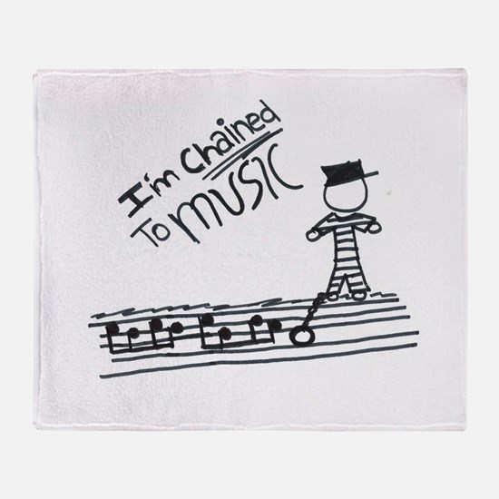 Chained to music Throw Blanket