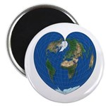 "World Map Heart: 2.25"" Magnet (100 pack)"