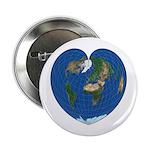 """World Map Heart: 2.25"""" Button"""