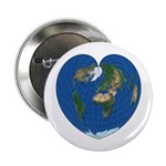 "World Map Heart: 2.25"" Button (10 pack)"
