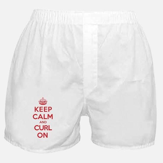 Keep Calm Curl Boxer Shorts
