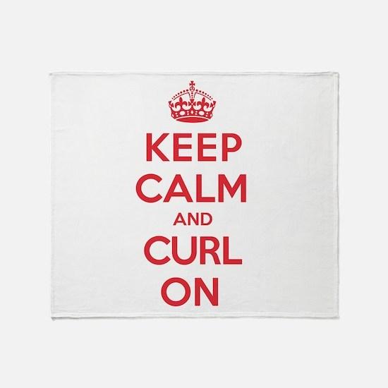 Keep Calm Curl Throw Blanket
