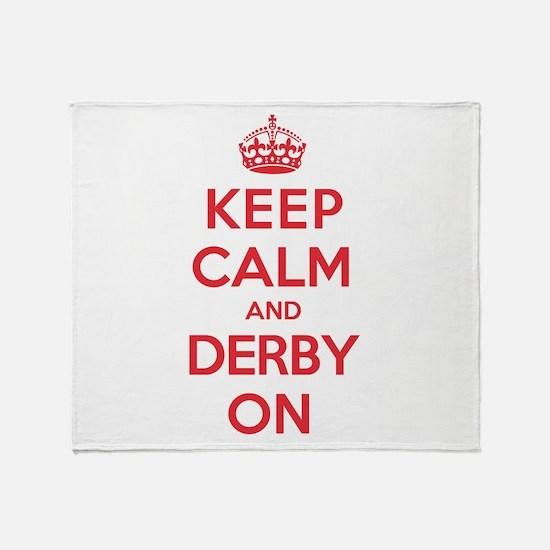 Keep Calm Derby Throw Blanket