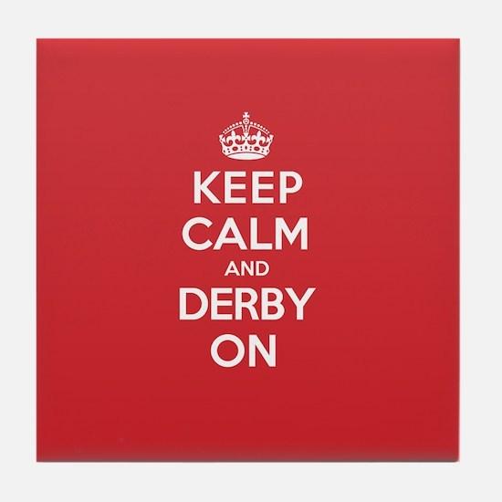Keep Calm Derby Tile Coaster