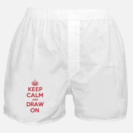 Keep Calm Draw Boxer Shorts