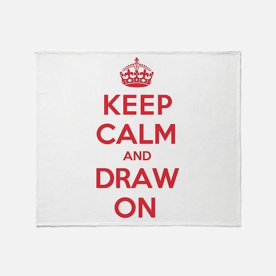 Keep Calm Draw Throw Blanket
