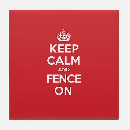 Keep Calm Fence Tile Coaster